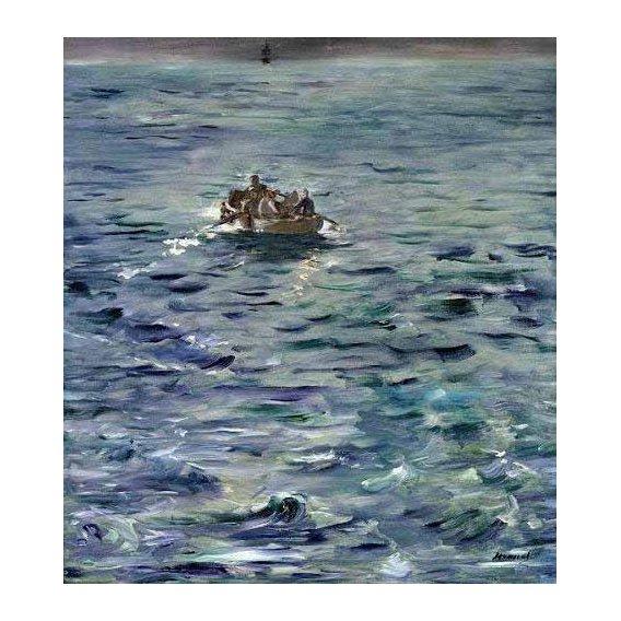pinturas de paisagens marinhas - Quadro -Evasión de Henri de Rochefort-