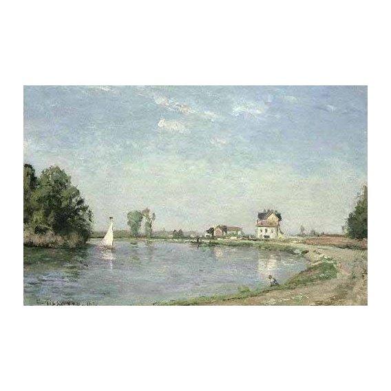 pinturas de paisagens - Quadro -Al borde del río-