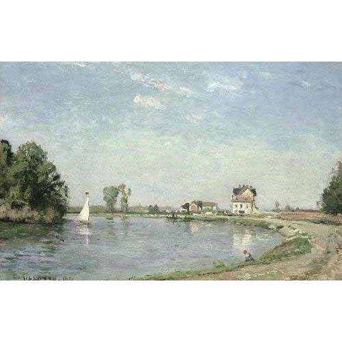 Tableau -Au bord de la rivière-