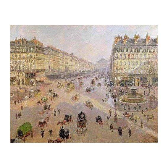 pinturas de paisagens - Quadro -La Avenida de la Opera, París-
