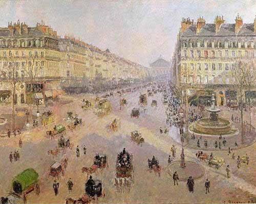 tableaux-de-paysages - Tableau -Avenue de L'Opera, Paris, 1898, París- - Pissarro, Camille
