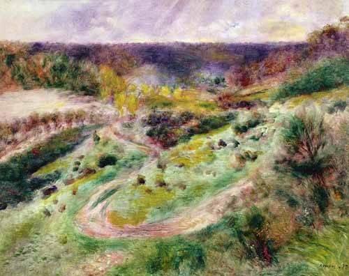 tableaux-de-paysages - Tableau -Paysage à Wargemont- - Renoir, Pierre Auguste