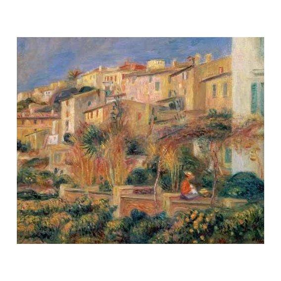 pinturas de paisagens - Quadro -Terraza en Cagnes-