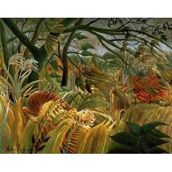 Tableau -Tigre en una tormenta tropical-