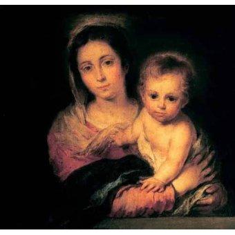 Tableaux religieuses - Tableau -La Virgen y el Niño- - Murillo, Bartolome Esteban