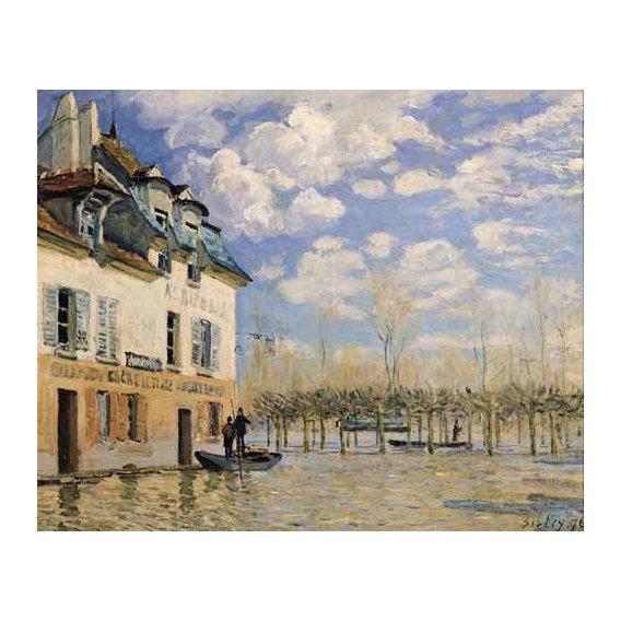 pinturas de paisagens - Quadro -Inundación en Port-Marly-