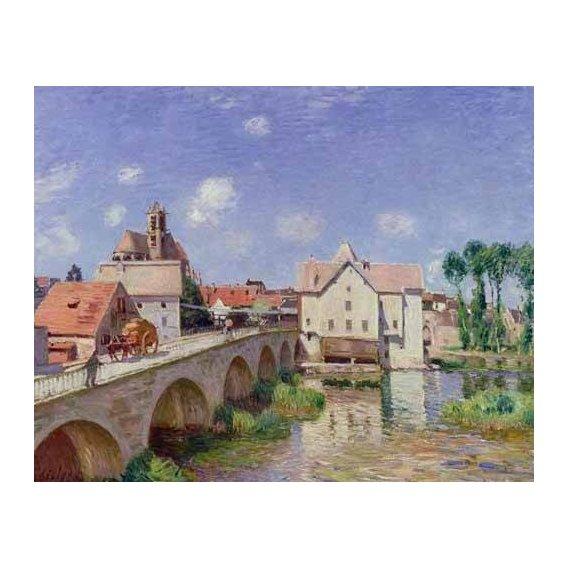 pinturas de paisagens - Quadro -El puente de Moret-