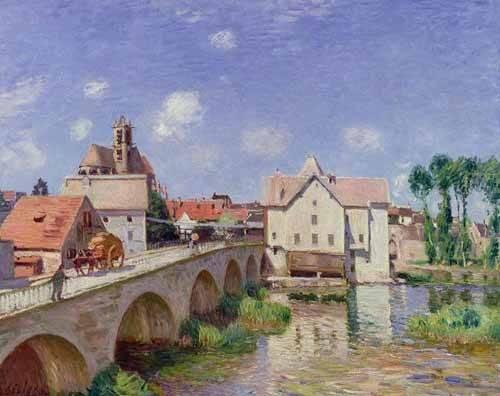 tableaux-de-paysages - Tableau -El puente de Moret- - Sisley, Alfred