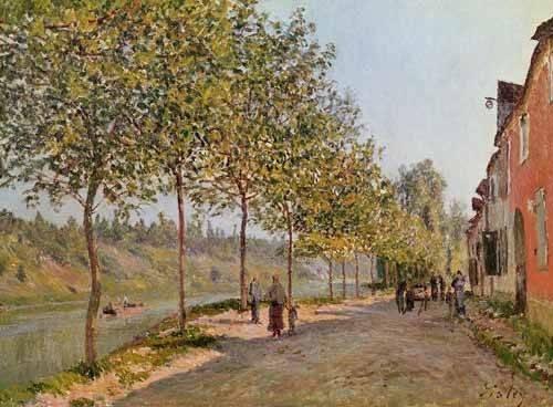 tableaux-de-paysages - Tableau -Mañana de Junio en Saint-Mammes- - Sisley, Alfred