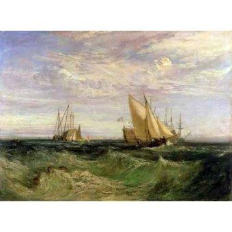 Tableaux de paysages marins - Tableau -La confluencia entre el Tamesis y el Medway- - Turner, Joseph M. William