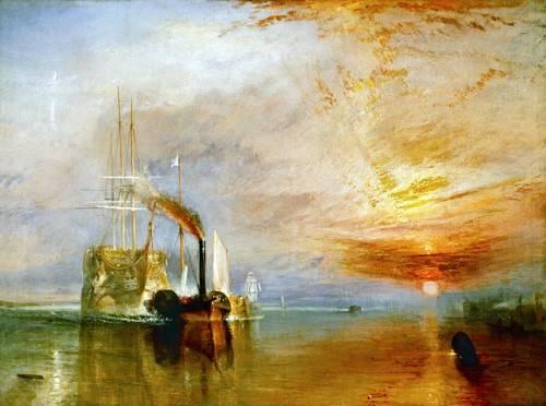 tableaux-de-paysages-marins - Tableau -Le Dernier Voyage du Téméraire- - Turner, Joseph M. William