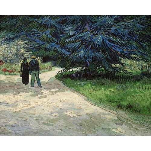 Tableau -Couple dans le parc, Arles-
