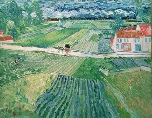 tableaux-de-paysages - Tableau -Paysage d'Auvers après la pluie- - Van Gogh, Vincent