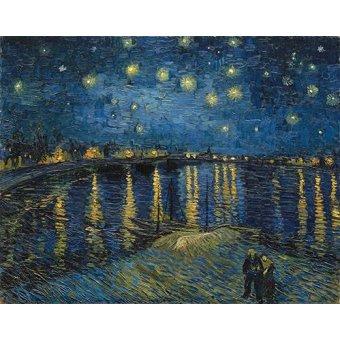 - Tableau -La nuit étoilée sur le Rhône- - Van Gogh, Vincent
