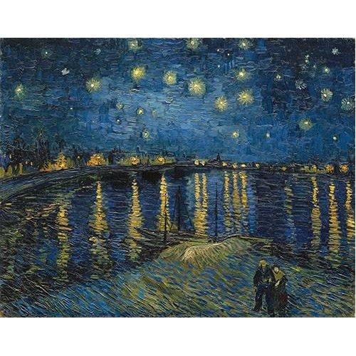 Tableau -La nuit étoilée sur le Rhône-